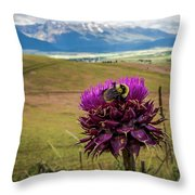 Bumblebee With The Best View Throw Pillow