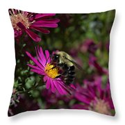 Bumbles In The Fall Throw Pillow