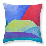 Bumps Of West Maui II Throw Pillow