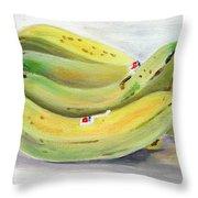 Bunch Of Bananas Throw Pillow