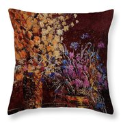 Bunch Of Dried Flowers  Throw Pillow