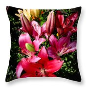 Bunch Of Lily Throw Pillow