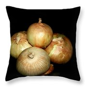 Bunch Of Onions Throw Pillow