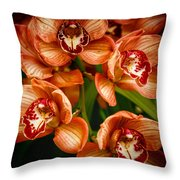 Bunches Of Flowers I Throw Pillow
