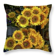 Bunches Of Sunflowers Throw Pillow