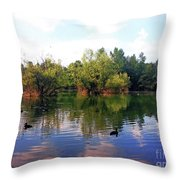 Bundek Park Zagreb Throw Pillow