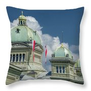 Bundeshaus The Federal Palace Throw Pillow