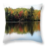 Bunganut Lake Maine Foliage 11 2016 Throw Pillow