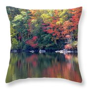 Bunganut Lake Maine Foliage 13 2016 Throw Pillow