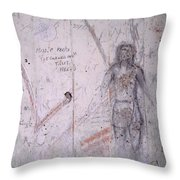 Bunker Graffiti Throw Pillow