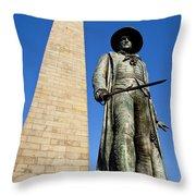 Bunker Hill Memorial Throw Pillow