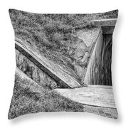 Bunkers At Foort Pulasi Throw Pillow