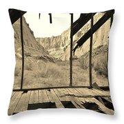 Bunkhouse View 5 Throw Pillow