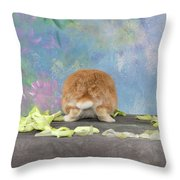 Bunny Butts Are Beautiful  Throw Pillow