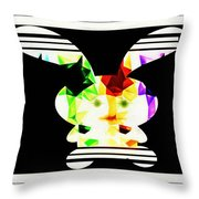 Bunny In Abstract Throw Pillow