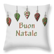 Buon Natale Italian Merry Christmas Throw Pillow
