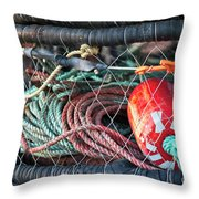Buoy And Ropes Throw Pillow