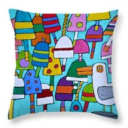 Buoyed By Seagulls Throw Pillow