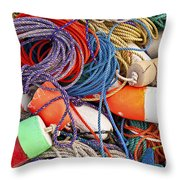 Buoys And Rope Throw Pillow