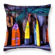 Buoys For Sale  Throw Pillow