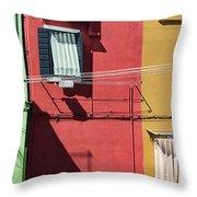 Burano Facade Throw Pillow