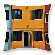 Burano Homes Throw Pillow