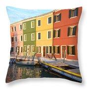 Burano Italy 1 Throw Pillow