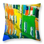 Burano Reflections Throw Pillow