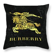 Burberry - Black And Gold - Lifestyle And Fashion Throw Pillow