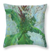 Burdock Leaves  Throw Pillow