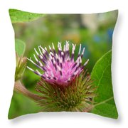 Burdock Throw Pillow