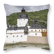 Burg Pfalzgrafenstein In Kaub Germany Throw Pillow