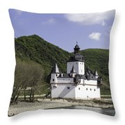 Burg Pfalzgrafenstein Squared Throw Pillow