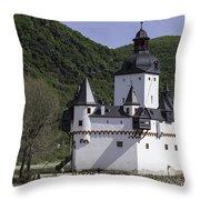 Burg Pfalzgrafenstein Throw Pillow