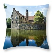 Burg Vischering Throw Pillow by Dave Bowman