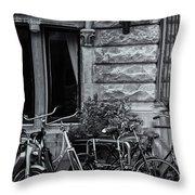 Burgandy Blur Throw Pillow