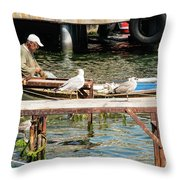 Burgazada Island Fisherman Throw Pillow
