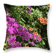 Burgazada Island Flower Color Throw Pillow