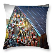 Burgeoning With Bouys Throw Pillow