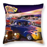 Burger Bobs Throw Pillow