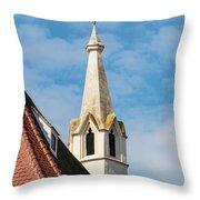 Burgerspitalkirche Throw Pillow