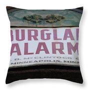 Burglar Alarm Throw Pillow