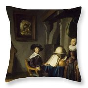 Burgomaster Hasselaar And His Wife Throw Pillow