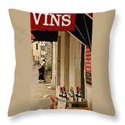 Burgundy Wine Road Throw Pillow
