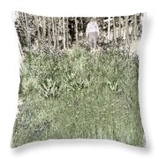Burial Ground Throw Pillow