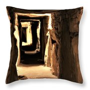 Burial Tomb Throw Pillow