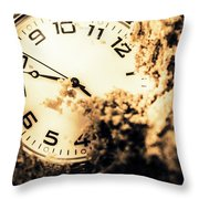 Buried By The Hands Of Time Throw Pillow