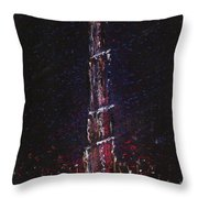 Burj Khalifa - Tallest Building - Dubai Throw Pillow