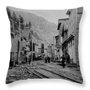 Burke Idaho Ghost Town In Its Prime Throw Pillow