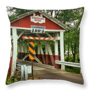 Burkholder Covered Bridge Throw Pillow